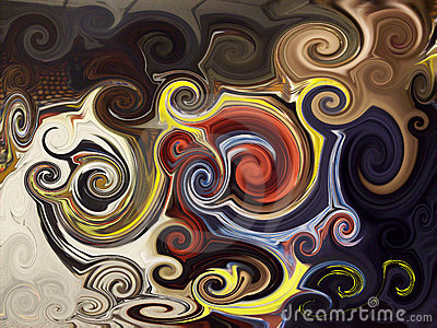 Abstract twirls background