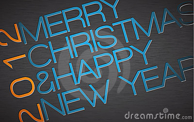Abstract  typography Christmas card