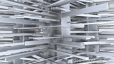 Abstract Urban City building In Chaos 01