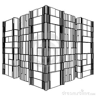 Abstract Urban City Building Vector 123