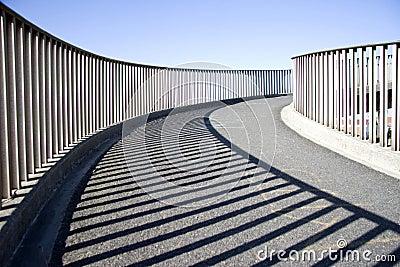 Abstract of an urban walkway