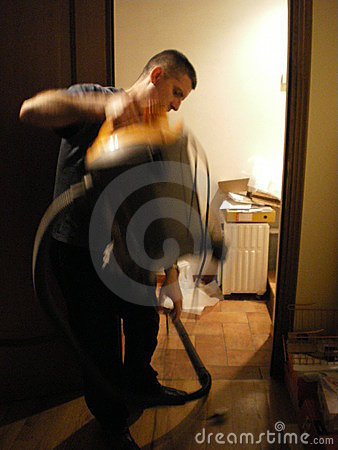 abstract vacumn cleaning man
