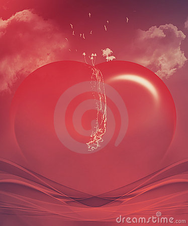 Abstract valentine heart