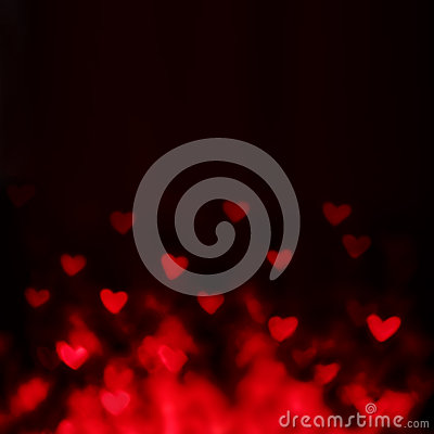 Free Abstract Valentine S Day Background With Red Hearts Stock Photography - 49010612