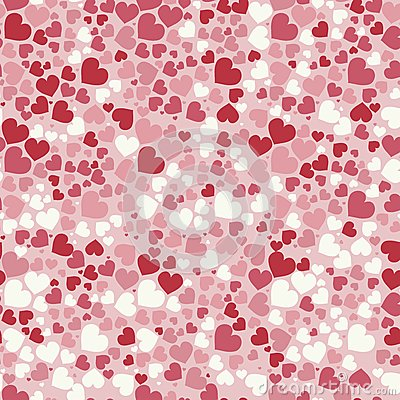 Free Abstract Valentine`s Day Hearts. Seamless Background For Your Design. Vector Illustration. Love Concept. Cute Wallpaper. Good Idea Royalty Free Stock Images - 85701479