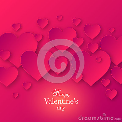Abstract Valentine& x27;s day pink color background Cartoon Illustration