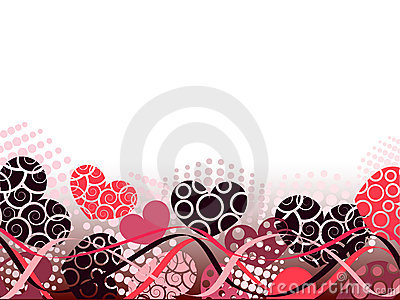 Abstract Valentines Day background with hearts.