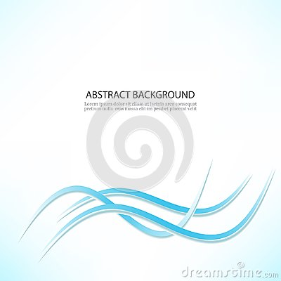 Free Abstract Vector Background, Blue Transparent Waved Lines For Brochure, Website, Flyer Design. Smoke Wave. Wavy Lines Stock Photography - 124052052