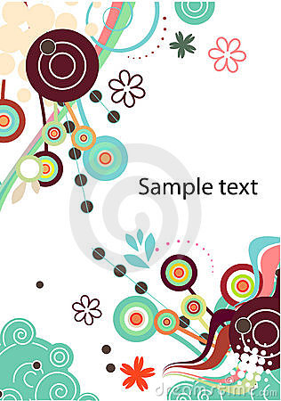 Abstract vector background in green