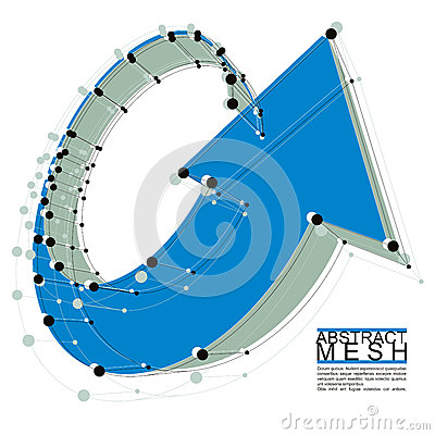 Abstract vector background, modern style technology and science