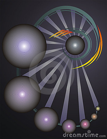 Abstract Vector Background with spheres