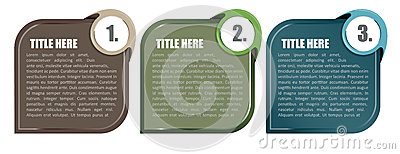 Abstract vector background tabs for three steps