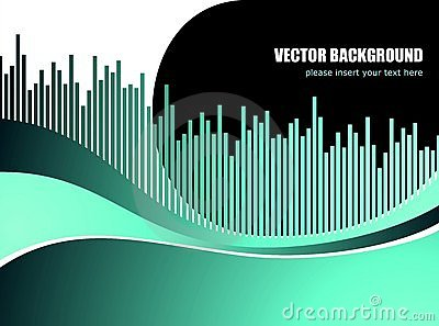 Abstract vector background with white wave pattern