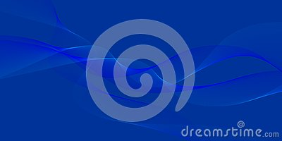 Abstract Vector Blue Blur Wavy Background Stock Photo