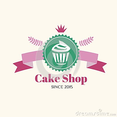 Abstract Vector Cake Vintage Logo Element. Cakes Stock ...