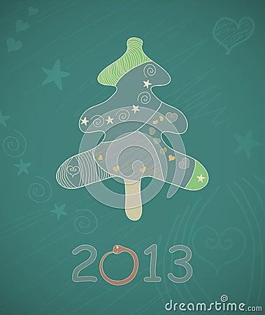 Abstract vector Christmas tree.