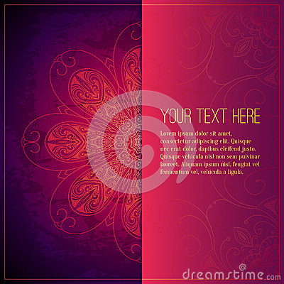Free Abstract Vector Circle Floral Ornament. Lace Stock Images - 46804444