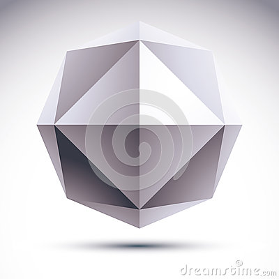Abstract vector 3D geometric object.