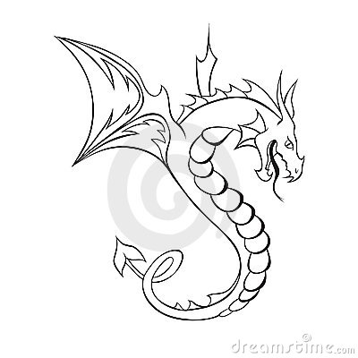 Abstract vector dragon tattoo royalty free stock image image