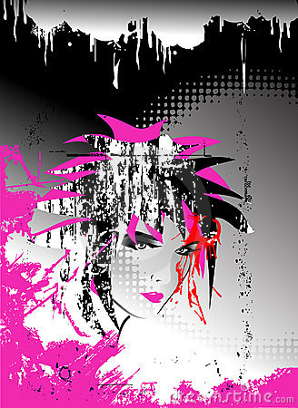 Free Abstract Vector,Emo Background Stock Photos - 7093853