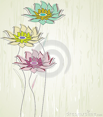 Abstract vector flower