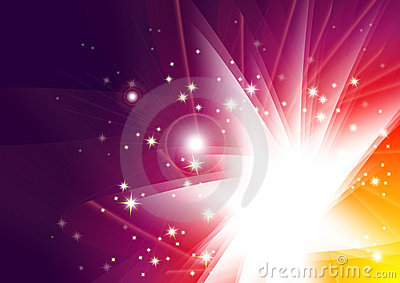 Abstract vector glow