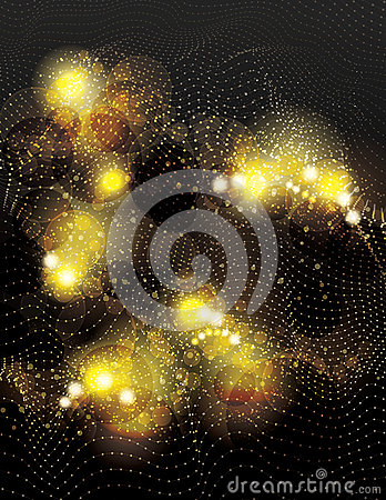 Free Abstract Vector Gold Dotted Light Effect Background Royalty Free Stock Image - 48987906