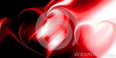 Abstract vector heart blur background wallpaper. Stock Photo