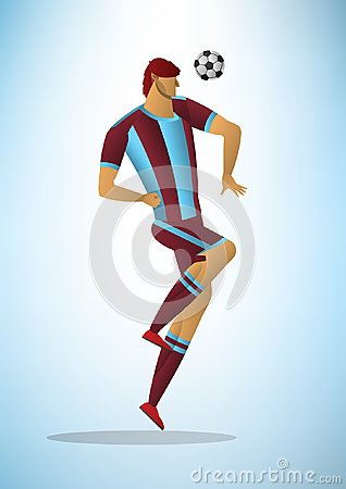 Free Abstract Vector Illustration Of Football Player In Action The Ba Royalty Free Stock Photo - 119798995