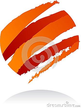 Abstract vector logo / icon - 8