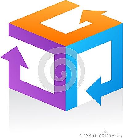 Abstract vector logo / icon - 9
