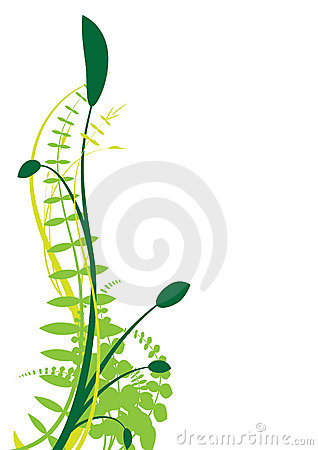 Abstract vector plant
