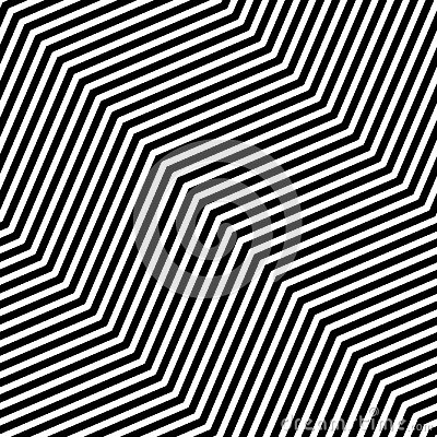 Free Abstract Vector Seamless Op Art Pattern. Monochrome Graphic Black And White Ornament. Striped Optical Illusion Repeating Texture. Stock Photo - 108811260