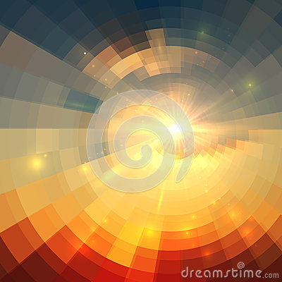 Free Abstract Vector Sunrise Circle Technology Royalty Free Stock Photo - 56374295
