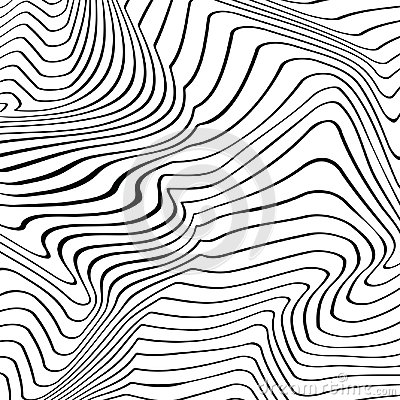 Free Abstract Vector Texture Of Curving Lines Stock Images - 105235384