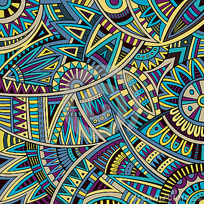 Abstract vector tribal ethnic background pattern