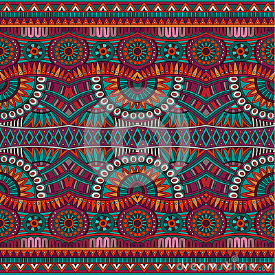 Free Abstract Vector Tribal Ethnic Seamless Pattern Stock Photography - 39921162