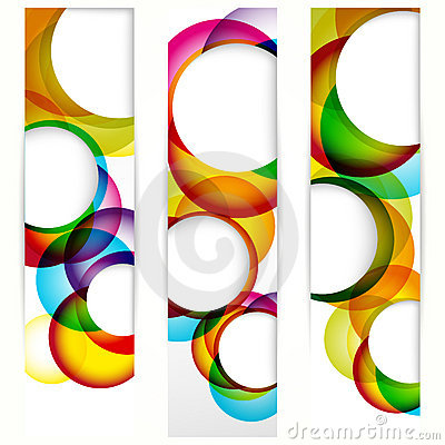 Abstract vertical banner