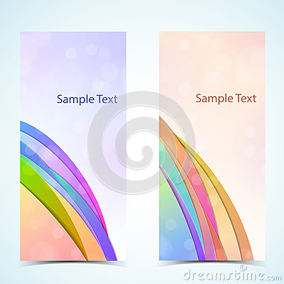 Abstract vertical banners set