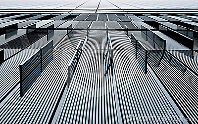 Abstract view of a metal building