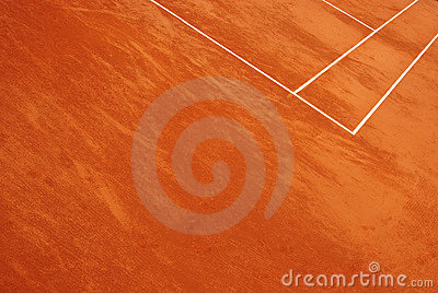 Abstract view of a tennis court