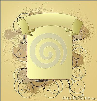An abstract vinatge design