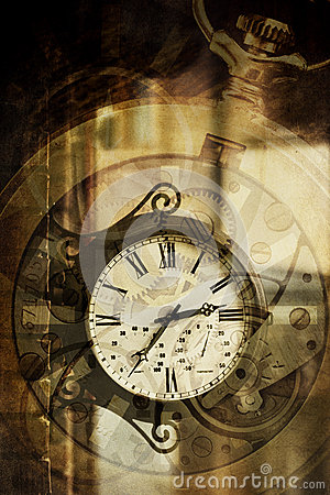 Clock vintage abstract