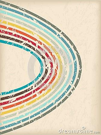 Abstract vintage brochure design