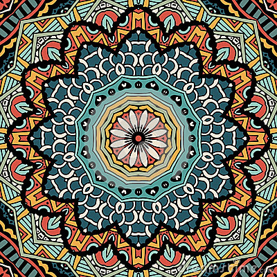 Abstract Vintage Ethnic Tribal Pattern Stock Photo - Image ...