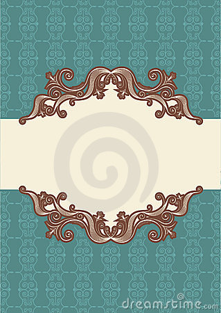 Abstract vintage frame with vignettes