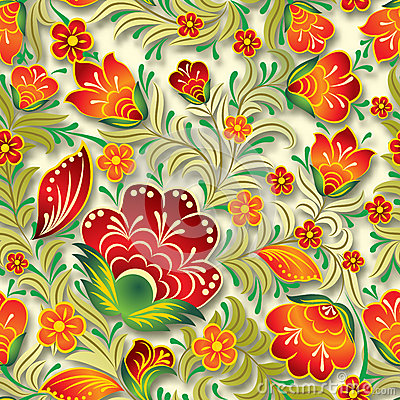 Free Abstract Vintage Seamless Floral Ornament Royalty Free Stock Images - 41203389