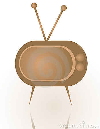 Abstract vintage tv