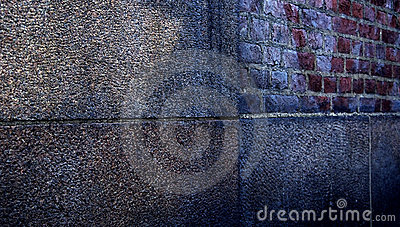 Abstract vintage wall in urban scene