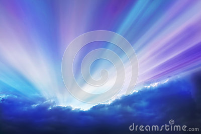 Abstract Violet and Cyan Rays